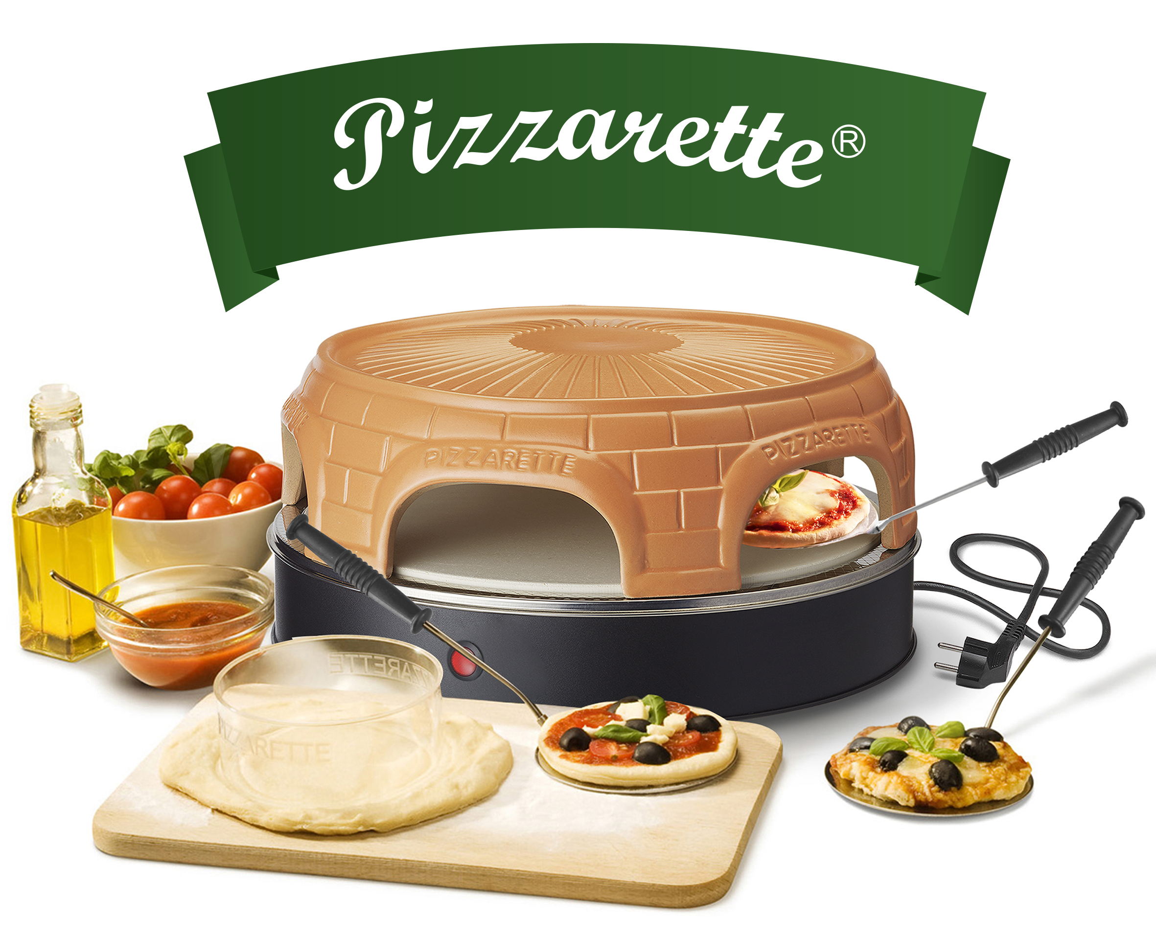 Pizzarette 6 Persoons.Pizzarette Stone Keep Warm 6 Persoons Po 116100